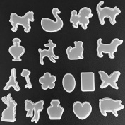 Whitelotous 19 PCs DIY Resin Mould - Animal Jewellery Crystal Resin Craft Making Mould Decoration Craft Tool