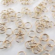 50 - 5mm Gold Filled 22 Gauge Open Jump Ring, Made in USA