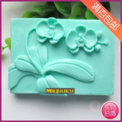 Pinkie Tm Orchid Flower silicone soap mould form for soap Clay mould Salt carving mould wholesale