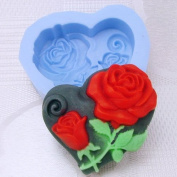 Pinkie Tm peony heart-shaped soap mould silicone moulds form for soap Clay mould Salt carving silica gel mould wholesale