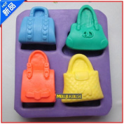 Pinkie Tm Four handbags silicone soap mould form for soap Clay mould Salt carving mould wholesale