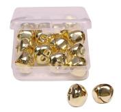 Shapenty 1 Inch/25mm Silver Metal Jumbo Christmas Jingle Bells for Wedding Xmas Tree Decoration Craft DIY Beads Jewellery Findings Charms