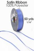 Double Face Santin Craft Ribbon, 0.2cm wide, 50-yard spool, Royal Blue