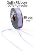 Double Face Santin Craft Ribbon, 0.2cm wide, 50-yard spool, Lilac