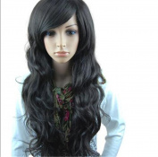 ATOZWIG Fashion Stylish Long Full Curly Wavy Party Lady Girl Natural Black Hair Wig