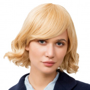 Asifen Fashion Medium Length Curly with Bangs Human Hair Wigs for Women