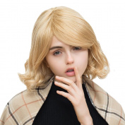 Asifen New Medium Length Curly with Bangs Human Hair Wigs for Women