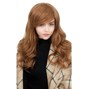 Asifen New Extra Long Body Wavy with Side Bangs Human Hair Wigs for Women