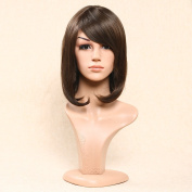 Secretgirl Short Synthetic Bob Wig for Women Party Wigs Brown Heat Resistant Full Wig