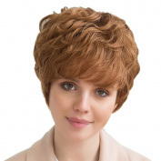 Asifen Temperament Fashion Short Curly Human Hair Wigs for Women