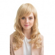 Asifen New Long Curly Wigs with Bangs Charming Human Hair Wigs for Women