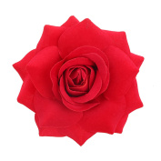 Youbami 9.5cm Handmade Velvet Rose Flower Hair Clip and Pin For Bridal Girl Women Wedding Prom Party