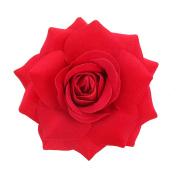 Youbami 9.5cm Handmade Velvet Rose Flower Hair Clip and Pin For Bridal Girl Women Wedding Prom Party