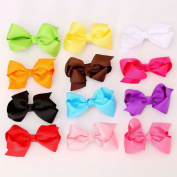 Youbami 7.6cm Handmade Boutique Hair Bows Girls Kids Children Hair Clips Grosgrain Ribbon Bowknot Hairpin