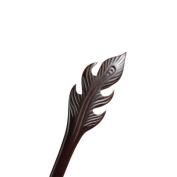 Vintage Ebony Handmade Carved Wood Hairpin Phoenix Feather Hair Stick Chignon Updo Bun Pins