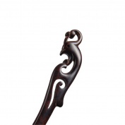 Vintage Ebony Handmade Carved Black Wood Hairpin Hair Stick Retro Chignon Pin China Phoenix
