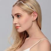 Merroyal Fashion Rhinestones Headband Crown For First Communion, Wedding, Pageant