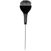 Hair Tamer Tint Brush with Metal Pin Tail & Rubber Grip