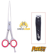 Professional 15cm High Quality Japanese Stainless Steel Barber Razor Edge Hair Cutting Shear Scissor With Free nail Cutter