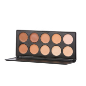 PhantomSky 10 Colours Concealer Cream Camouflage Makeup Palette Contouring Kit - Perfect for Professional and Daily Use