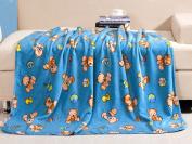 Luxe Bedding 110cm x 130cm Plush Fleece Baby Blanket - Multiple Designs Available