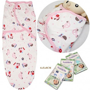 SwaddleMe Original Swaddle Cotton Blanket Wrap Nweborn baby Beep Beep,Easy Adjustable Hook and loop,0-4 months,Pink