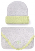 Kashwere Baby Trim Cap/Blanket Set in Blue/Green Size 80cm x 80cm