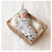 Kids Newborn Baby Stretch Knit Swaddle Wrap Blanket,Bath Towel Soft Cotton Blankets - Baby Shower Gift - Perfect for Nursery Sets - Unisex