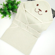 AiXiAng Baby Swaddle Pouch Blanket with Hood Baby Wrap made of Organic Cotton