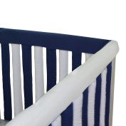 Go Mama Go designs Set of Reversible Teething Guards, Navy & White, 80cm x 30cm