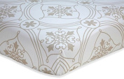 Wendy Belissimo Avery Collection Fitted Crib Sheet - Damask - Moroccan