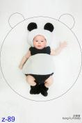 AiXiAng Baby Newborn Photography Prop Baby Handmade Panda Costume Hat Set