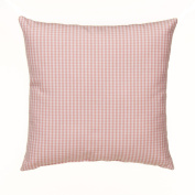 Glenna Jean Cottage Collection Rose Pillow, Pink gingham