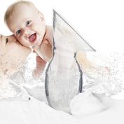 Fashionclubs 2pcs/set Food Grade Silicone Manual Breastfeeding Pump 100ML