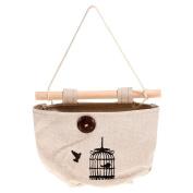 TTnight Hanging Storage Bag, Cotton Pocket Wall Door Hanging Holder Sundry Organiser