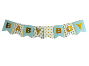 Idiogram BABY BOY Paper Bunting Banner Birthday Party Shower Christening Garland Decoration Favours