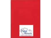 Accent Design Paper Accents ADP8511-5.8857 Ultra Matte 22cm x 28cm Chinese Red Cardstock
