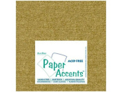 Accent Design Paper Accents ADP1212-25.881 No.80 30cm x 30cm Gold Leaf Paper Pearlized Card Stock