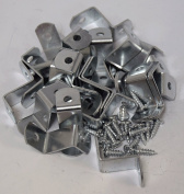 1.9cm Offset Clips 100 Pack With Screws