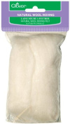 Brand New Natural Wool Roving .90ml-Off White Brand New