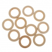 ROSENICE Wood Ring DIY Jewellery Making Findings Charms 5.5cm - 10 Pieces