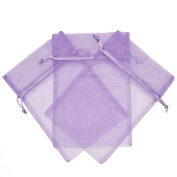 30 Party Favour Gift Bags Organza Fabric Drawstring Bags - Lavander Purple