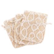 20 Party Favour Gift Bags Burlap White Lace