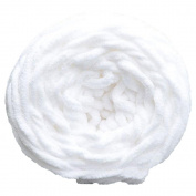 Gilroy DIY Soft Chunky Ball Yarn for Knitting Crochet Scarf Sweater 100g - White
