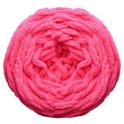Gilroy DIY Soft Chunky Ball Yarn for Knitting Crochet Scarf Sweater 100g - Dark Pink