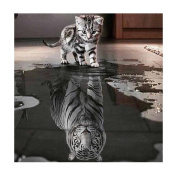 Cat and Tiger DIY 5D Diamond Embroidery Painting FunFunman Cross Stitch Home Decor Craft