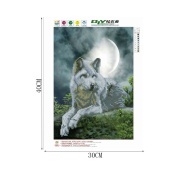 LAYs DIY 5D Diamond Painting Mosaic Wolf Cross Stitch Embroidery Craft Kit Home Wall Decor