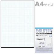 "Deleter Comic Manga Section Gridline Paper [5mm Blue Gridline] [70kg] [Size A4 8.27"" x 11.69""] [40-page Pack]"