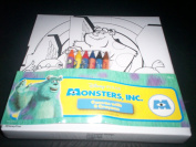 Monster's Inc Colouring Canvas and 6 Crayons