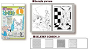 Deleter Beginners Screen Tone Jr Kit of 4 Sheets with Practise Images [ Kit L ] for Comic Manga Illustration